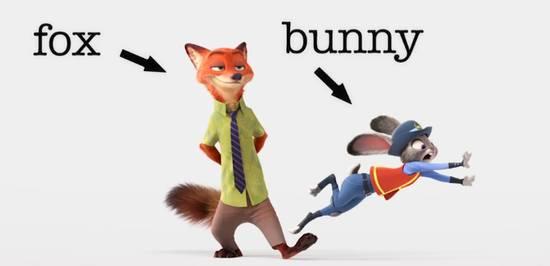 《疯狂动物城》狐兔cp简直炸裂少女心