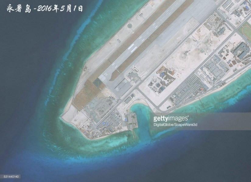 永暑岛5月1日最新卫星照
