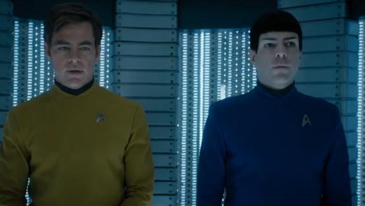 《星际迷航3》曝新预告 柯克船长史波克秀友谊图片