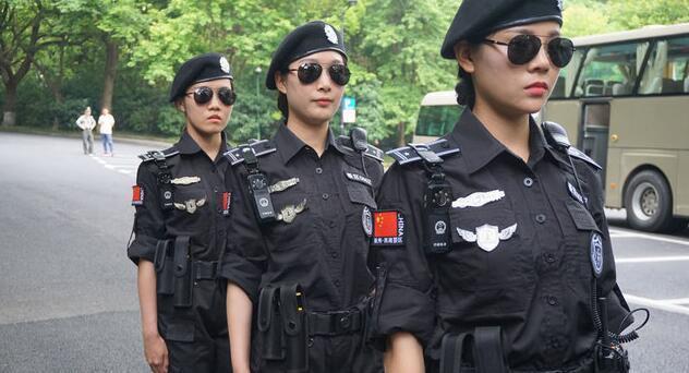 杭州G20女子巡逻队制服墨镜:酷劲十足 - 一统江山 - 一统江山的博客