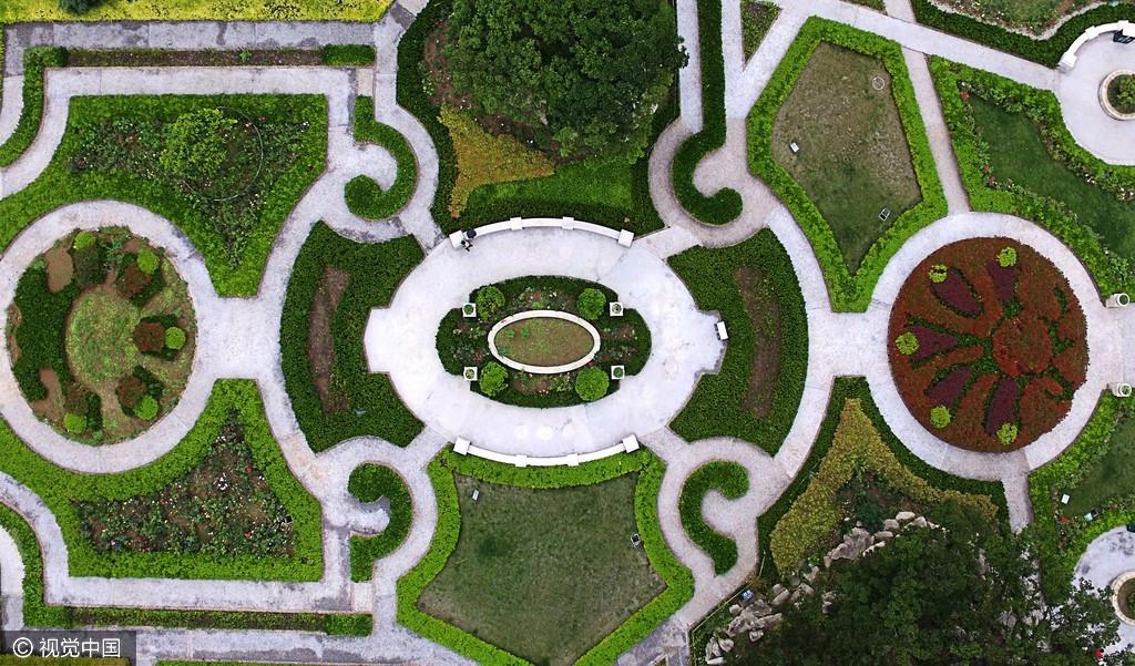 中山公园的一个小花园