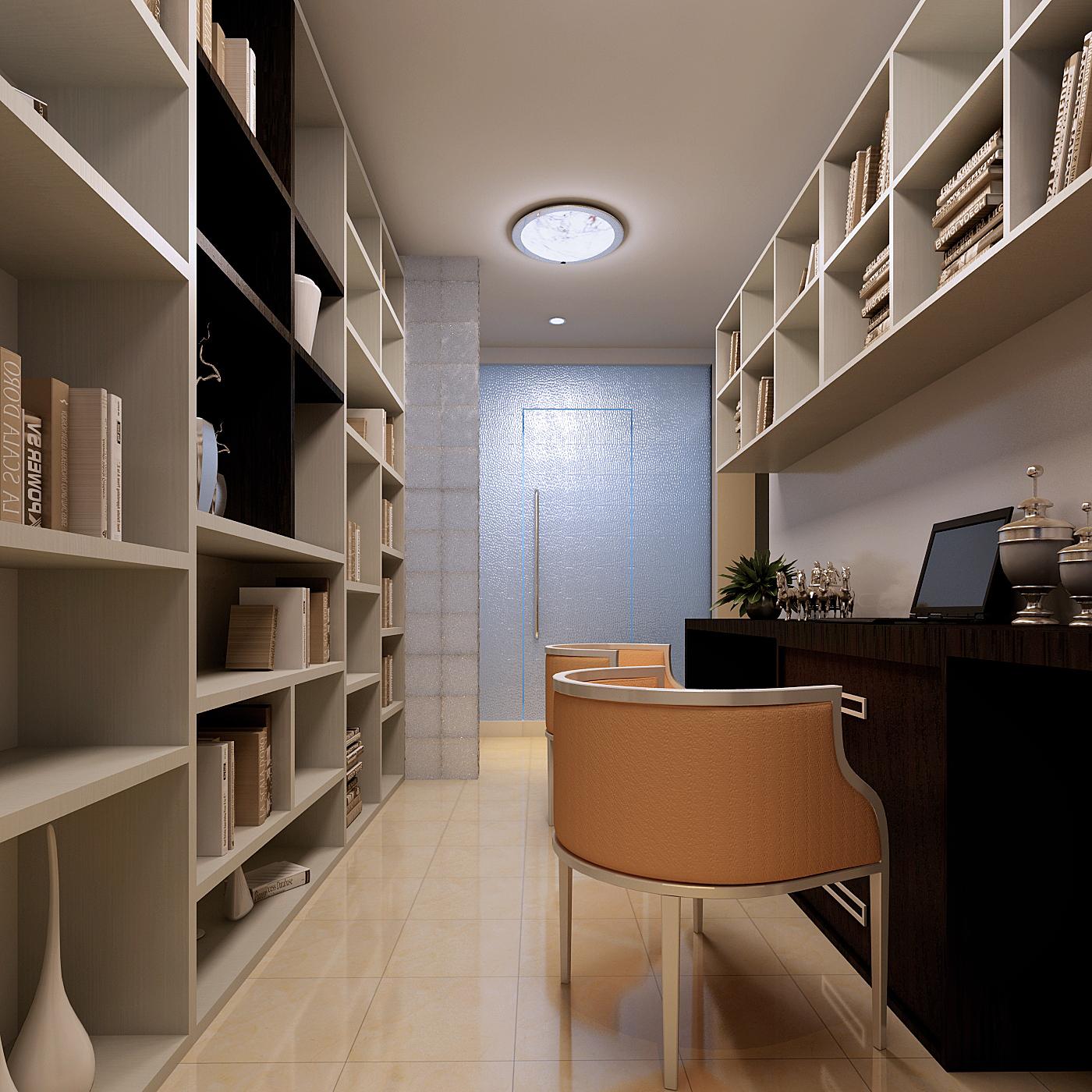 书房书柜装修效果图展示
