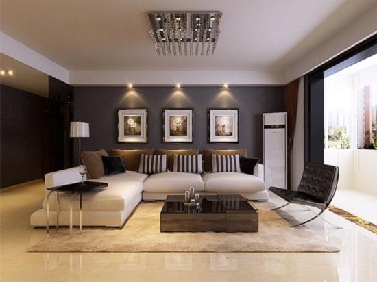 东亚逸品阁-二居室-95.00平米-客厅装修效果图