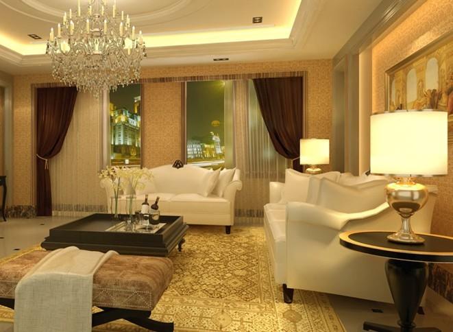 欧式客厅装修效果图:明亮色彩的运用