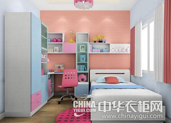 儿童板式衣柜二:粉色+紫色   衣柜、书桌(书桌装修效果图)、层