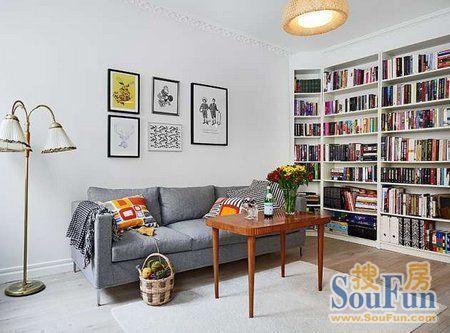 书架,大气又美观.   窗台的置物空间.   清清爽爽的小卧室,