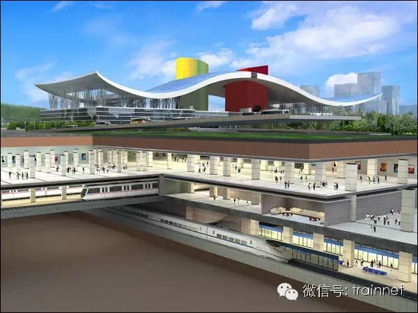 深圳北高铁站平面图 贵港高铁站平面图 高铁站2台6线平面图 图片 54k 图片