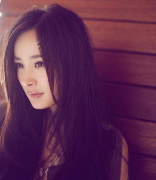 杨幂侧脸qq头像可爱漂亮的图片